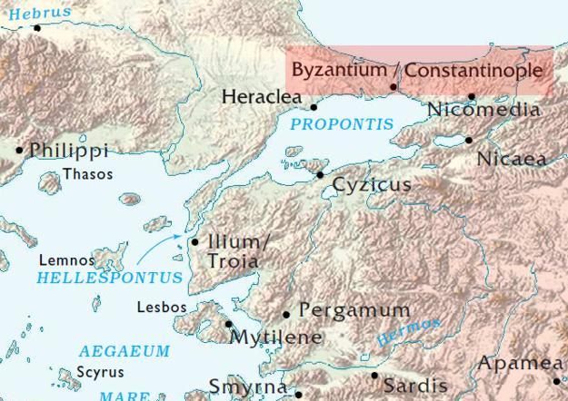 Byzantium Nove Roma - Ancient rome map byzantium